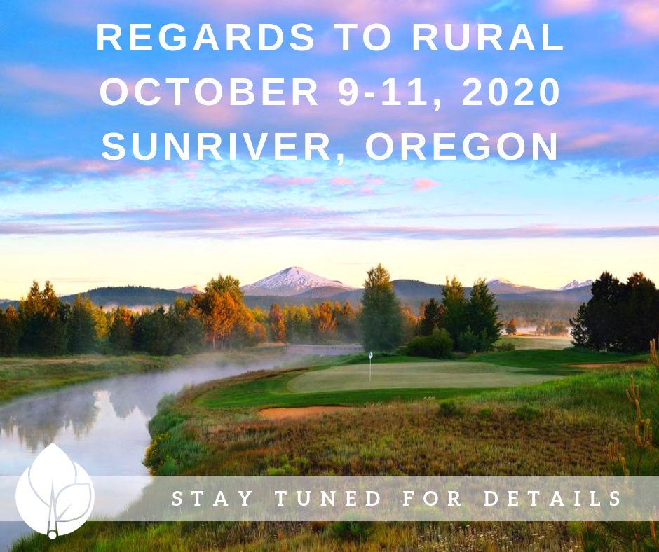 Regards to Rural 2020: Mark Your Calendar!
