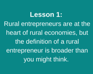 Lesson 1: Rural entrepreneurs are at the heart of rural economies, but the definition of a rural entrepreneur is broader than you might think.